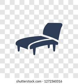 lounger icon. Trendy lounger logo concept on transparent background from Furniture and Household collection