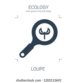 loupe icon. high quality filled loupe icon on white background. from ecology collection flat trendy vector loupe symbol. use for web and mobile