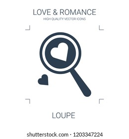 loupe icon. high quality filled loupe icon on white background. from love romance collection flat trendy vector loupe symbol. use for web and mobile
