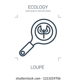 loupe icon. high quality line loupe icon on white background. from ecology collection flat trendy vector loupe symbol. use for web and mobile