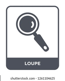 loupe icon vector on white background, loupe trendy filled icons from Customer service collection, loupe simple element illustration