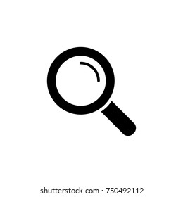 loupe, lupe, search, zoom tool, black simple icon on white