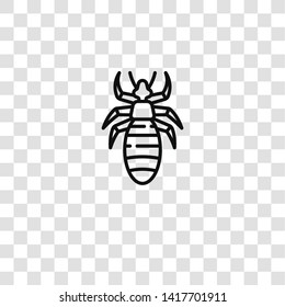 louse icon from insects collection for mobile concept and web apps icon. Transparent outline, thin line louse icon for website design and mobile, app development