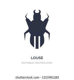 louse icon on white background. Simple element illustration from Animals concept. louse icon symbol design.