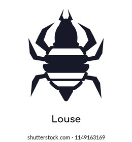 Louse icon vector isolated on white background for your web and mobile app design, Louse logo concept
