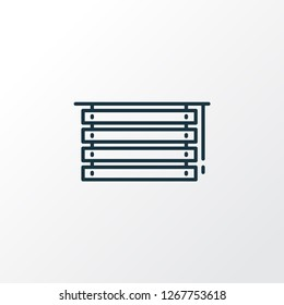 Louvers icon line symbol. Premium quality isolated jalousie element in trendy style.