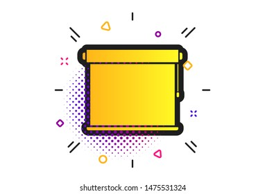 Louvers rolls sign icon. Halftone dots pattern. Window blinds or jalousie symbol. Classic flat louvers icon. Vector
