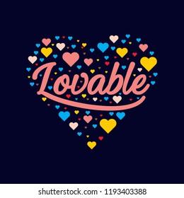 lovable lettering badge pattern