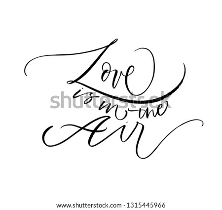 Love Air Hand Drawn Black Lettering Stock Vector Royalty Free