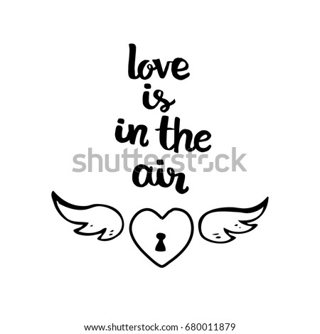 Love Air Hand Drawn Valentines Day Stock Vector Royalty Free