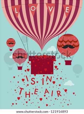 Air Balloon Template | Love Air Hot Air Balloon Template Stock Vektorgrafik Lizenzfrei