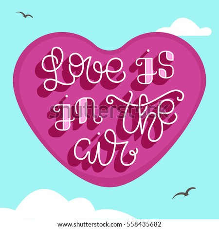 Love Air Simple Card Valentines Day Stock Vector Royalty Free
