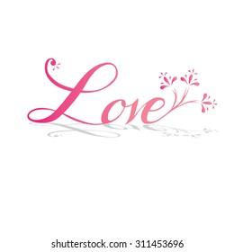 Love alphabet decorative element.vector illustration