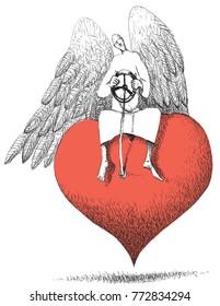 Love angel steering wheel