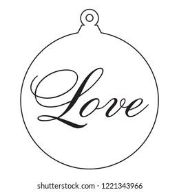 Love. Antique Christmas Tree Ornament.