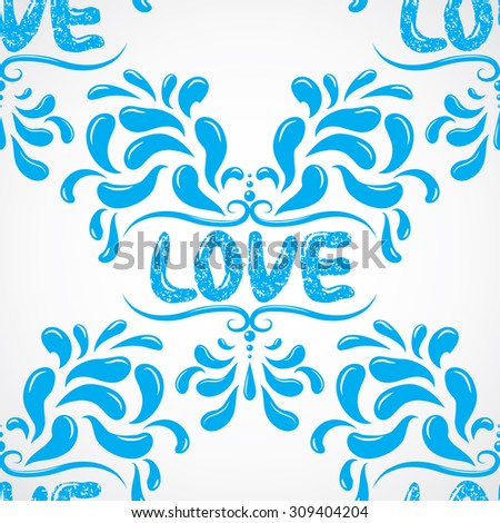 Love Background Vector Petals Seamless Pattern Stock Vector