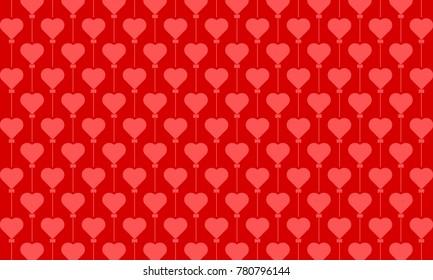 love balloon vector pattern