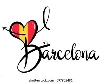 I Love Barcelona - Vector Graphic