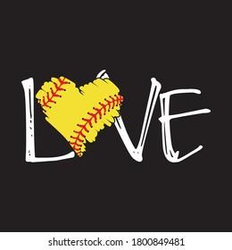 i love baseball, softball vector t shirt design vector