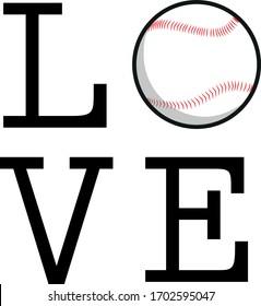 love baseball t-shirt vector black white