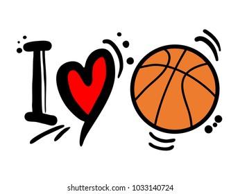 I love basketball message