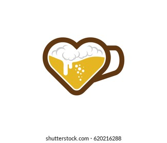 Love Beer Icon Logo Design Element