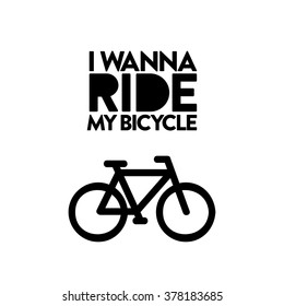 Love of bicycle. Typography and illustration