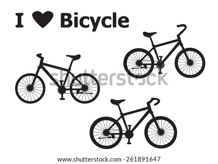 Love Bicycle Vector Stock Vector Royalty Free 261891647 Shutterstock