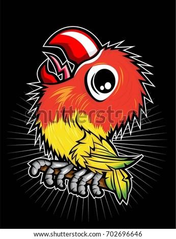 Love Bird Stock Vector Royalty Free 702696646 Shutterstock