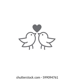 Love bird Icon on white background. Vector illustration