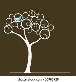 Love bird on a tree