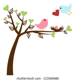 Love Birds Background or Card Template