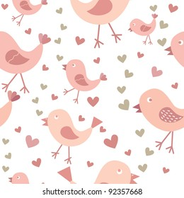 Love birds seamless background texture