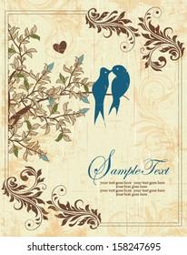 Love Birds Sitting In a Tree Wedding Invitation
