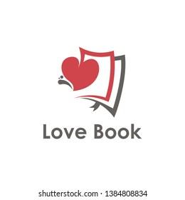 Love Book Logo Design, icon, design, template