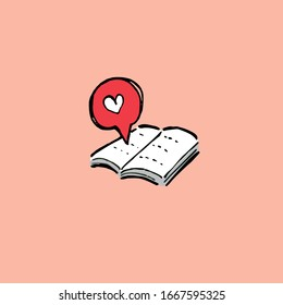 love and book picture illustrate there are still many people who love education