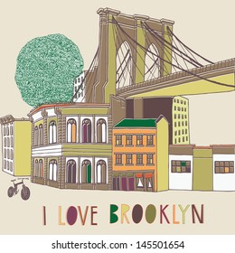 I Love Brooklyn Print Design