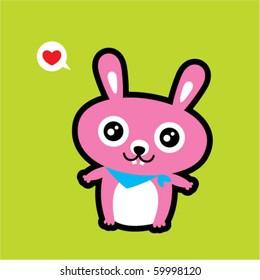love bunny doodle