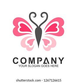 love butterfly logo design