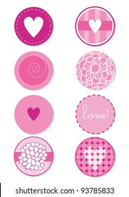 Love Button Vector Set