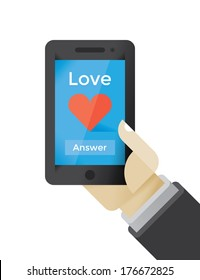 Love calling on mobile phone