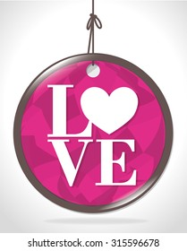 Love card with hearts and pink details design, vector illustration eps 10.