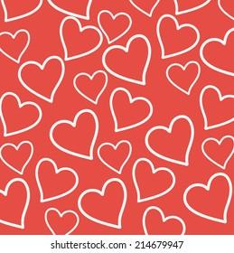 love card over pink background vector illustration