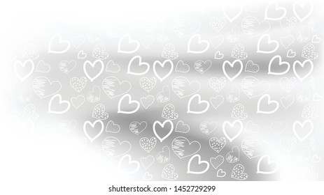 Love card vector. Illustration Graphic hearts background. romantic Design Layout template