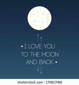 Love card: I love you to the moon and back