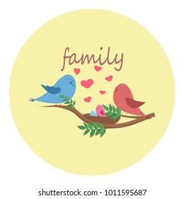 love cartoon birdies sing about love family