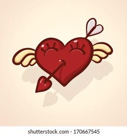 Love cartoon heart
