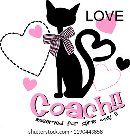love cat for t-shirt