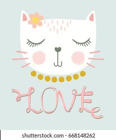 love cat vector design. - Shutterstock ID 668148262