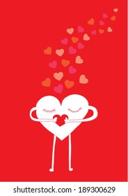 love character vector poster design template/ layout design/ background
